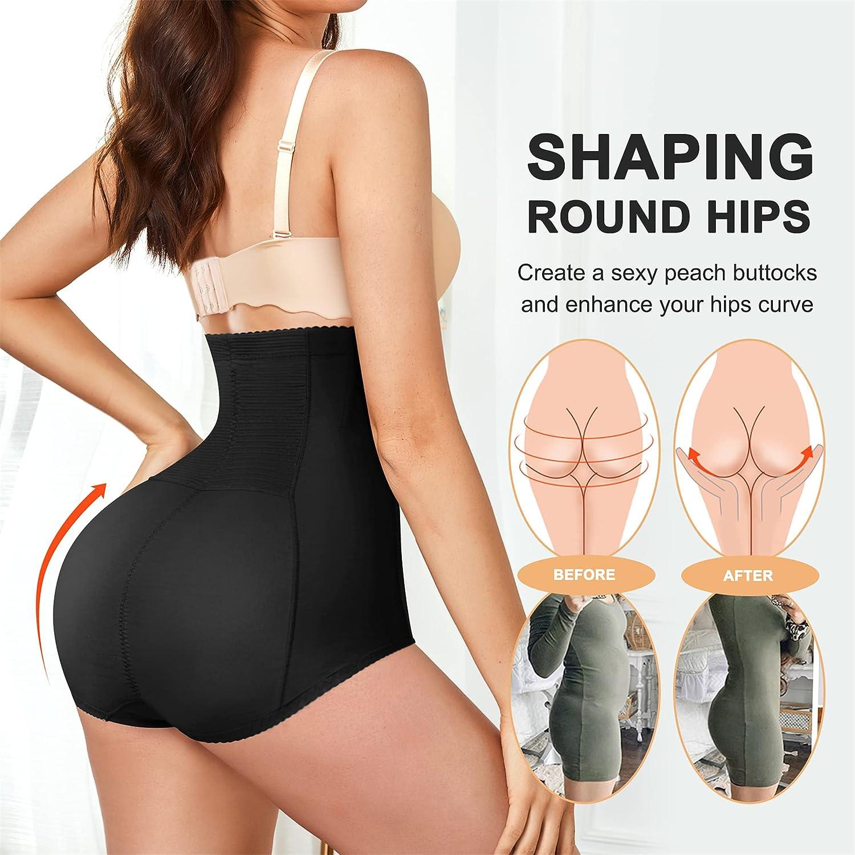 Eleady Women Butt Lifter Shapewear Hi-Waist Tummy Control Panties Slimmer Body Shaper