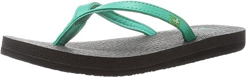 Sanuk damen& 039;s Yoga Spree 4 Flip Flop, Hot Turquoise, 9 M US