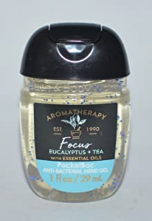Bath & Body Works PocketBac Hand Gel Sanitizer Focus Eucalyptus Tea