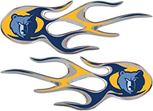 Team ProMark Mmephis Grizzlies 2-Pack Drip Molded Plastic Raised Flame Flames Decal Emblem Sticker Basketball