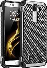 BENTOBEN Phone Case LG K8 2016 / LG K7 / LG Treasure LTE, Case for LG Tribute 5 / LG Escape/LG Phoenix 2, Dual Layer Hybrid PC TPU Bumper Carbon Fiber Texture Rugged Shockproof Protective Case Black