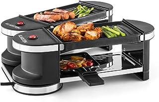 comprar comparacion Klarstein Tenderloin Mini Raclette Grill - Parrilla de sobremesa, Barbacoa-Party, 600 W, Incluye 4 Mini-sartenes, Antiadhe...