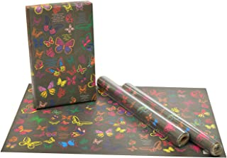 eVincE Gift Wrapping Paper Kids Birthday boy girl Butterfly facts to wrap   Match colorful pairs   Pack of 25 recyclable s...