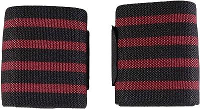 Abaodam 2 STKS Polsbandjes voor Sport Gebruik Gewichtheffen Zweetband Elastische Rekbare Pols Zweet Band Ondersteuning (Rood)