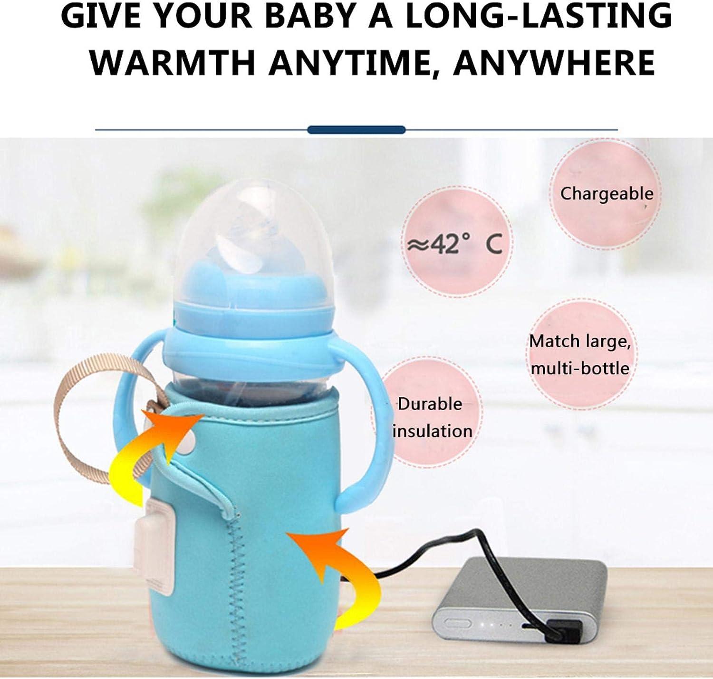 BIUDUI USB Babyflaschenw/ärmer Tasche Babyflasche Isoliertasche Thermotasche Anti-Verbr/ühung rutschfeste Isolierbeutel F/ür Auto Tragbare Milchw/ärmer Isolierabdeckung6,5x10,5 cm