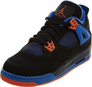 fe73fd5ef74bd7 Air Jordan 4 Retro (Cavs Knicks) Black Safety Orange-Game Royal