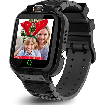 Video Smart Watch for Kids Boys Girls, Age 3-10 (3 colors) with Video Recorder & Player, MP3 Music Player,Games,Camera Stopwatch Timer(Build-in SD Card) - Kids Smart Watch for Children Gifts (Black)