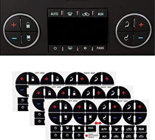 SunTrade 3PCS AC Dash Button Repair Kit,Replacement Stickers for Suburban, Chevy Tahoe, Silverado, Traverse, GMC Acadia, GMC - Fix Ruined Faded A/C Controls