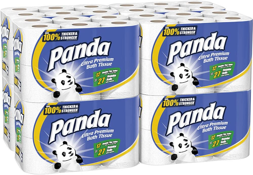 Panda Ultra Premium Toilet All items in the store Rolls Paper White 96 2021 new