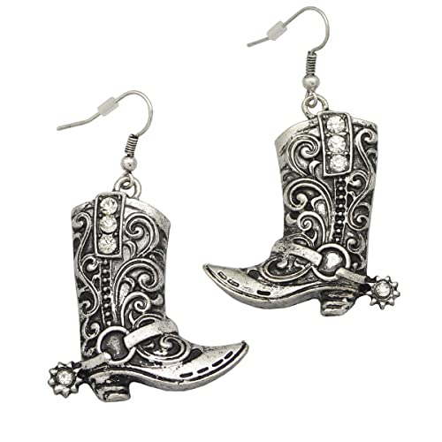893045a85 RechicGu Western Wild West Cowgirl Texas Boots Spur Rodeo Fancy Dress  Costume Dangle Earrings