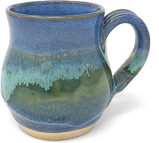 Mosquito Mud Pottery Classic Coffee Mug, Blue