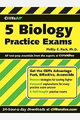 CliffsAP 5 Biology Practice Exams Paperback