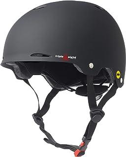 Triple Eight Gotham Dual Certified MIPS Skateboard and Bike Helmet، Black Matte، Large / X-Large، Gotham MIPS