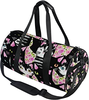 Travel Duffels Portrait Of Cute Black Llama Duffle Bag Luggage Sports Gym for Women /& Men