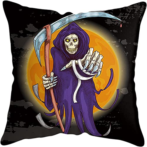2021 RiamxwR Halloween Pillow Case, Scary Night Witch Ghost Pillow Cover, Happy Halloween Linen Sofa Bed Throw Cushion new arrival new arrival Cover Home Decoration (Style E) outlet sale
