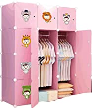 Portable Wardrobe Closets Combination Armoire Modular Cabinet Bedroom Armoire Simple Storage Cabinet for Space Saving Stan...