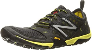 New Balance Men's MT10V1 Minimus Trail Running Shoe, Grey/Yellow, 9 D US