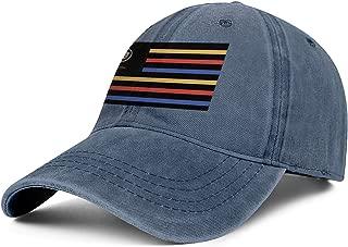 Mens Women's Washed Cotton Cowboy Hat Cadillac-National-Flag-dealership-Logo- Adjusted Sport Baseball Cap
