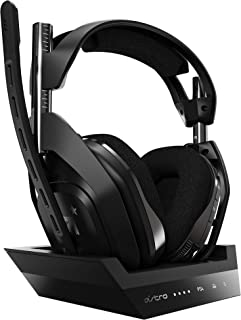 Astro ゲーミングヘッドセット A50 WIRELESS + BASE STATION ワイヤレス A50WL-002 ブラック ヘッドセット 無線 PS4/PC/Mac Dolby  5.1ch A50 Wireless Basestation 国内正規品 2年間メーカー保証