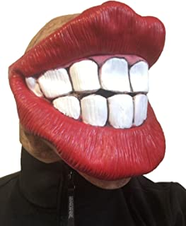 Rubber Johnnies Big Mouth Smiley Face Fat Red Lips Mask, Jagger , Smile , Batchelor Party , Adult