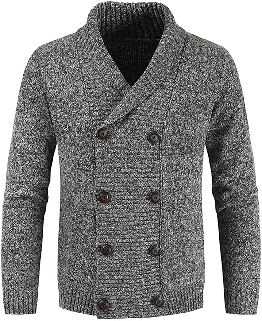Men's Lightweight Cardigan Sweaters Long Sleeve Open Front Cardigans Slim Fit Trench Jacket