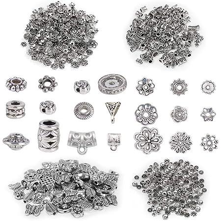 Keyzone Lot de 200 breloques pour fabrication de bijoux faites /à la main pour la fabrication de colliers et bracelets