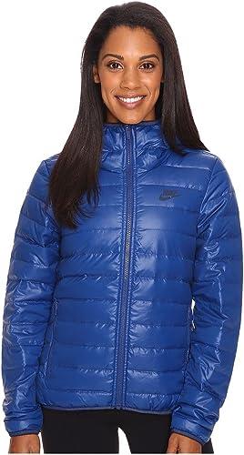 Nike - W NSW DWN FLL JKT HD - Vestes - Bleu - M - Femme