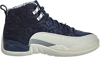 navy blue and red jordan 12s