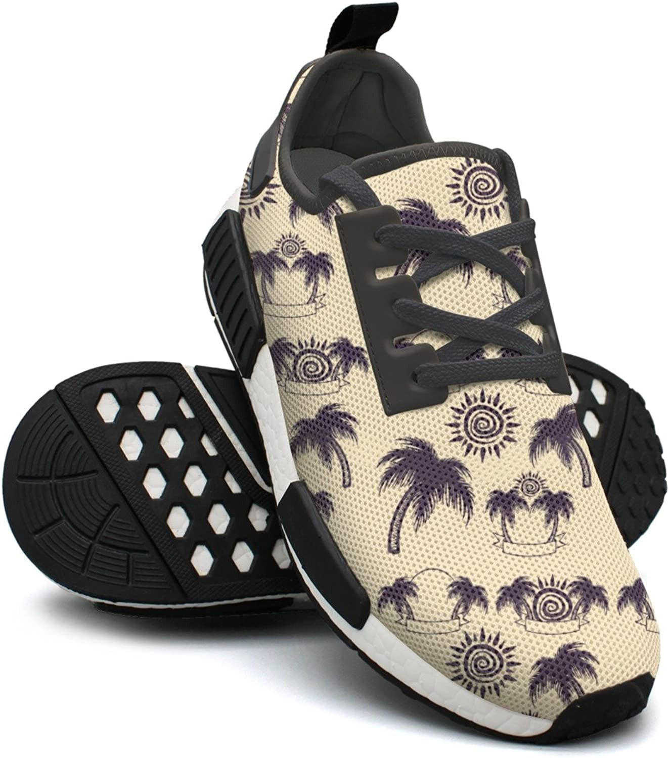 Palm Tree And Sun Ladies Jogging shoes Nmd Best Gym shoes
