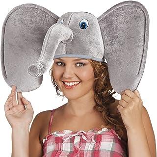 037259efbe Alsino 🐘 Cappello Divertente a Forma di Elefante | Taglia Unica | Adulti |  Travestimento