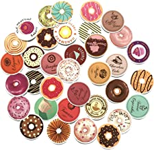 35PCS Circle Donut Small Fresh Lovely Baking Cartoon Stickers Toy Sticker for Luggage Skateboard Laptop Motorcycle Sticker