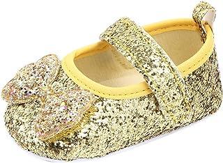 Reci/én Nacido Beb/és Ni/ñas Zapatos De Princesa de Borla con Nudo de Arco de Suela Blanda Antideslizante Primeros Zapatos para Caminar
