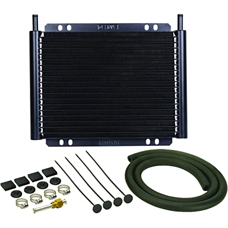 Derale 13503 Series 8000 Plate and Fin Transmission Oil Cooler , Black