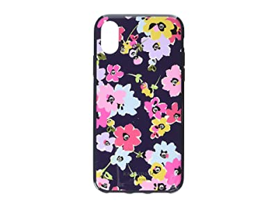 Kate Spade New York Jeweled Wildflower Phone Case for iPhone XS (Navy Multi) Cell Phone Case