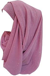 Lina & Lily Shimmer Gold Glitters Chiffon Hijab Scarf