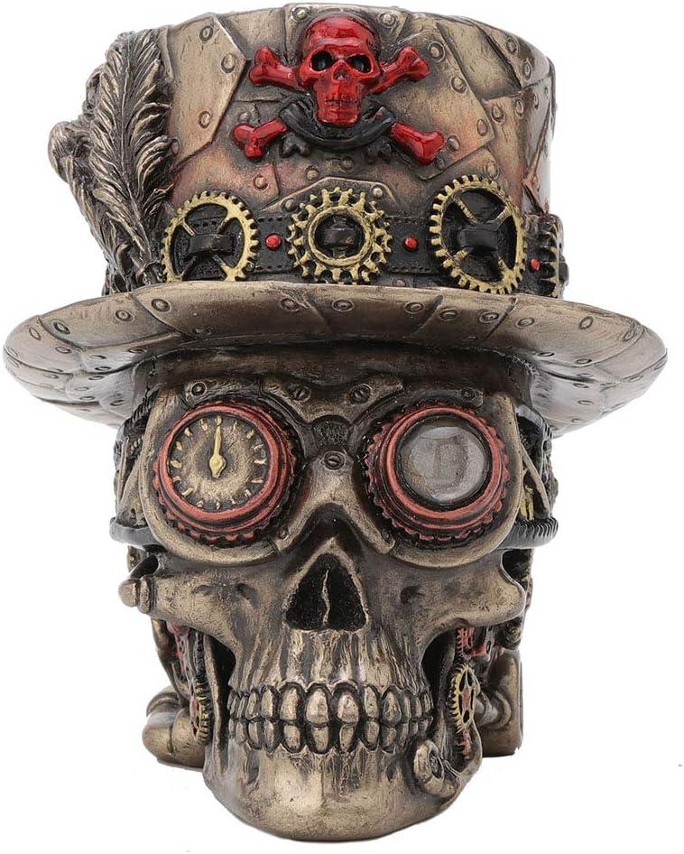 Veronese Design Tucson Mall 4.5 Japan's largest assortment Inch Steampunk Cross Top Hat Motor Sku Bones