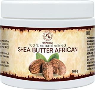 Manteca de Karite Pura 500g - Refinada - African - Ghana - Manteca Karité 100% Natural Mejor para el Pelo - Piel - Manos -...