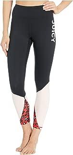 Juicy Couture Women's Hyper Leopard Color Block Sport Leggings