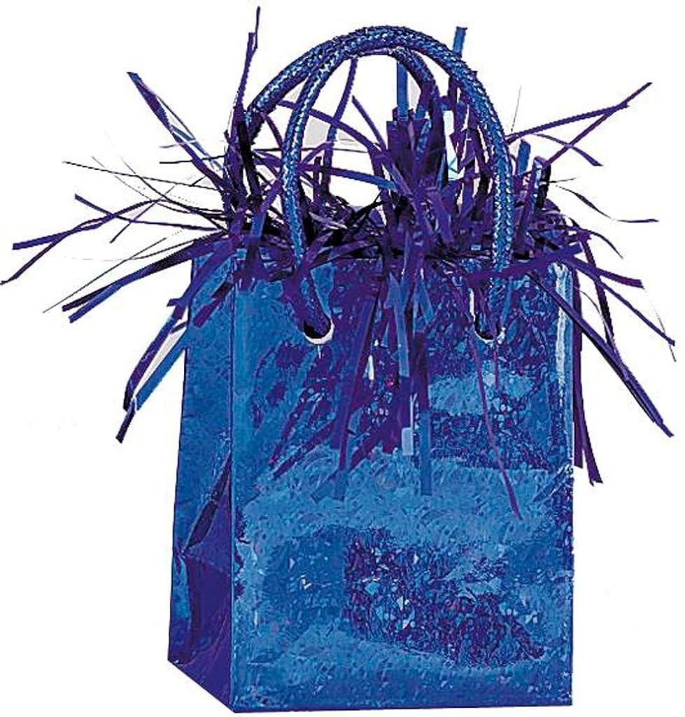 Gift Bag Shaped Royal Blue Balloon Weight
