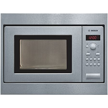Bosch Serie | 2 50 cm 17 L Stainless Steel Built in Microwave HMT75M551I (Steel/Black)