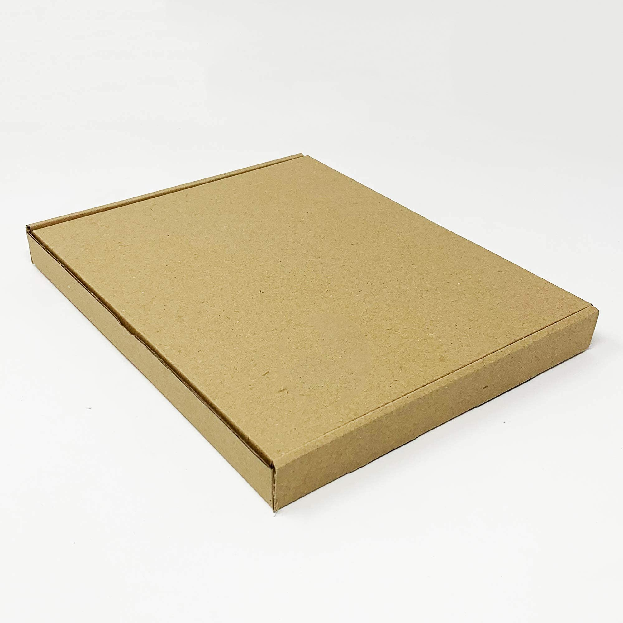 Tech-Pac - Pack of 10 – 235 mm x 190 mm x 24 mm Small Box Cardboard Wrap Kraft Packing Boxes Royal Mail Large Letter Mailing Posting Shipping Brown
