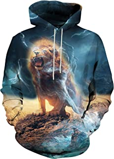 Unisex Realistic 3D Printed Hoodies for Men Women Cool Graphic Hooded Sweatshirt with Pockets for Men Women
