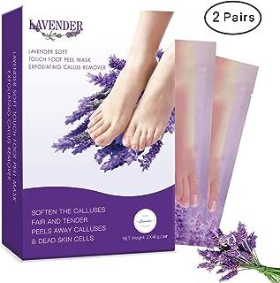 2 Pairs Exfoliating Foot Peel Mask-Peeling Away Rough Dead Skin & Calluses in 1-2 Weeks Repair Rough Heels Lavender for Men Women & Get Soft Smooth Soft Foot