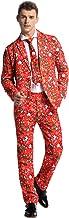 Modisch Herren Party Anzug Weihnachten Party Suits Kostüme Weihnachtsanzug Festliche Anzüge in Normalem Schnitt mit lustigen Mustern inkl Jackett Hose Krawatte von You Look Ugly Today