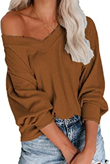 Allimy Women Casual Shirts Mutil Color Striped Long Sleeve Tops Blouses