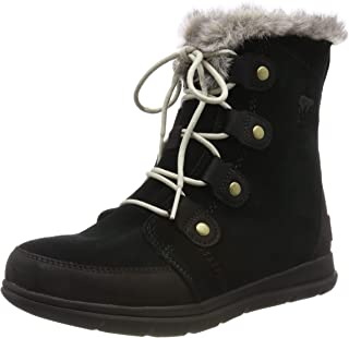 Womens Explorer Joan Snow Suede Rain Winter Ankle Waterproof Boots - Black/Dark Stone - 7