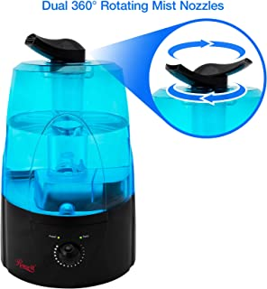 Rosewill Ultrasonic Cool Mist Humidifier for Bedroom Filter Free with No Noise Adjustable..
