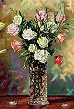 Queenie Colorful Art 1000 Piece Time Quiet گلهای خلاصه در گلدان گل نقاشی خلق و خوی آرام ذهن تیزر اسباب بازی های چوبی اره منبت کاری اره مویی بزرگ شده برای تزئین قاب عکس خانه