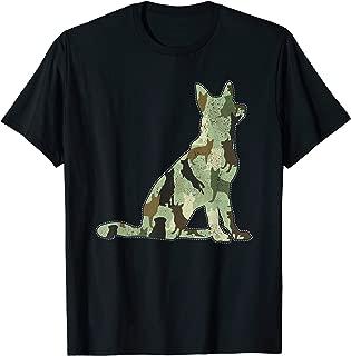 German Shepherd Camo Dog Camouflage T-Shirt