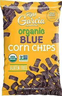 RW Garcia - Organic Blue Corn Chips (8.25 Oz) - Gluten Free - USDA Certified Organic Ingredients - Stone Ground Corn - Kosher - Non-GMO - No Additives or Preservatives - 8 Pack